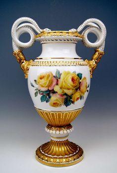 "Meissen Porcelain Manufactory (Germany) — Snake Handles Vase Pfeiffer Period. H:19"", 1924-1934 (768x1131)"