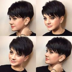 The Effective Pictures We Offer You About super long layered hair straight A quality picture can tel Tomboy Hairstyles, Pixie Hairstyles, Everyday Hairstyles, Short Human Hair Wigs, Girls Short Haircuts, Trendy Haircuts, Bob Haircuts, Super Short Hair, Sassy Hair