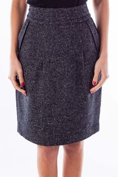 9f882a65a7 Professional skirts for any meeting black  amp  white tweed pencil skirt by  Cabi  silkroll
