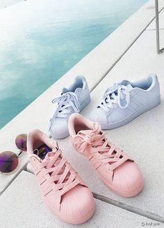 Adidas Superstar Roze Met Witte Strepen