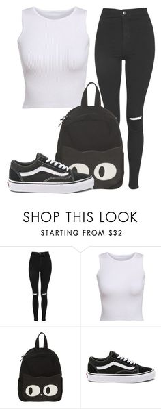 """Outfit #1758"" by lauraandrade98 on Polyvore featuring Topshop and Vans"