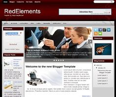 RedElements Blogger Template