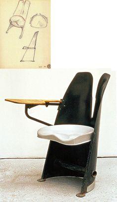 Jean Prouvé, silla para aula 1952