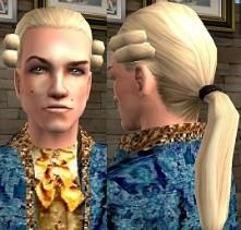Mod The Sims - Rococo Hair Meshes for Males (All Ages) + Textures