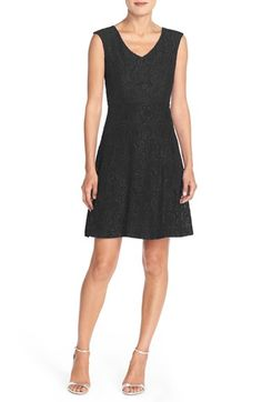 Free shipping and returns on Ellen Tracy Lace Fit & Flare Dress at Nordstrom.com. Versatile enough to carry you through a variety of occasions, this stretchy lace dress is designed to flatter with princess seaming through the bodice and a playfully flared skirt.