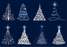 Abstract Christmas Tree Vector Set--free vectors here