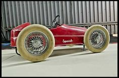 Put the pedal to the medal in this Indy Pedal Car #MecumVerde