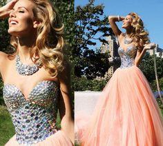 Custom Made 2016 Long Prom Dresses Evening Dresses Long Party Dresses Sweet Party Dress Sequins Prom Dress