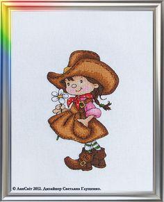 Lansvit - Prairie Flower, uses Kreinik gold metallic threads for realism in the shiny buckles.