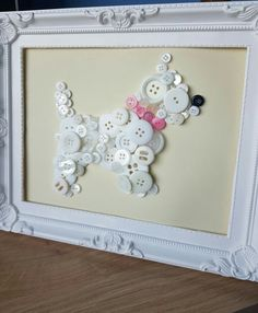 Cat Crafts, Diy And Crafts, Arts And Crafts, Paper Crafts, Sewing Crafts, Button Art, Button Crafts, Mosaic Projects, Art Projects