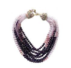 Coppola E Toppo 8 Strand Purple Bead Necklace