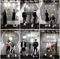 Visual merchandising Black And White Furniture, Black And White Interior, White Interior Design, Retail Windows, Store Windows, Checkered Floors, Visual Merchandising Displays, Window Dressings, Shop Window Displays