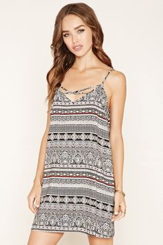 Abstract Print Cami Mini Dress