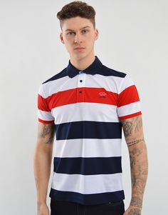 57f0a44f Paul & Shark Striped Polo Shirt Navy & White Paul Shark, Mens Designer  Brands,