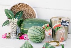 Celebrate National Watermelon Day with These Fun Ideas! Diy Wedding Inspiration, Wedding Ideas, Watermelon Wedding, Mint Party, National Watermelon Day, Celebrate Good Times, Tropical Party, Rose Photography, Party Entertainment