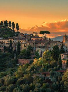 Palaia in Tuscany, Italy.