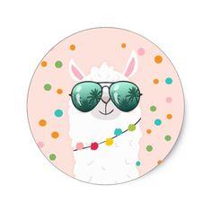 Shop Llama Rama Sticker Cupcake Topper Fiesta Alpaca created by Anietillustration. Llamas, Llama Clipart, Cartoon Llama, Scrapbook Bebe, Llama Face, Cute Alpaca, Doodles, Lesage, Thank You Stickers