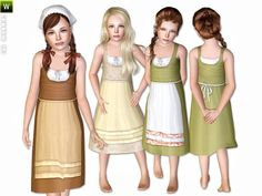 The Sims Resource - TSR Farm Dress by Lillka - Sims 3 Downloads CC Caboodle