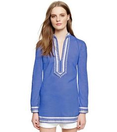 Tory Burch TORY TUNIC - comes in blue and coral pink