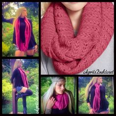 """Chunky Knit Infinity Scarf  NEW WITH TAGS   INFINITY SCARF   Retail Price: $35   * Super soft & cozy crochet knit fabric   * An extra long length for styling versatility     * About 54"""" inner cir. & 14"""" width   Fabric: 100% acrylic Color: Deep Rose   Item: 81300  No Trades ✅ Offers Considered*✅  *Please use the blue 'offer' button to submit an offer. Boutique Accessories Scarves & Wraps"""