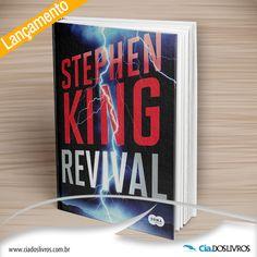 """#Lancamento #StephenKing  """"Revival"""" , do renomado autor Stephen King chegou para ser devorado! Jamie Morton conhece um pastor e se identificam. Sua família sofre uma tragédia e ele cai na vida de sexo, drogas e rock. Depois de anos, reencontra o pastor. Será que """"reviver"""" pode adquirir vários significados? Confira este superlançamento aqui na Cia.->"""