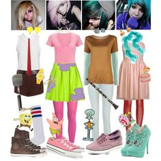 Character Outfit Ideas Gallery how to dress like spongebob characters cool halloween Character Outfit Ideas. Here is Character Outfit Ideas Gallery for you. Cute Group Halloween Costumes, Cute Costumes, Halloween Kostüm, Halloween Outfits, Costume Ideas, Cartoon Outfits, Disneybound Outfits, Disney Outfits, Spongebob Halloween