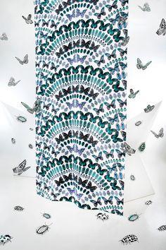 Papilio curtain (petrol)