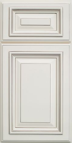 Highlighted White And Square Raised Panel For Kitchen Cabinets Doors