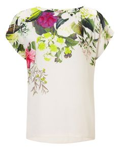 All New Arrivals | Cream Acacia Floral Blouse | Phase Eight