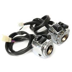 Interruptores de control del manillar de 1 pulgada con arnés de cableado para la motocicleta Harley