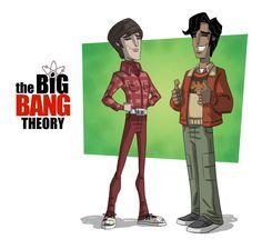 Howard & Raj ~ The Big Bang Theory by Otis Frampton