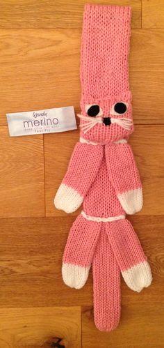 Cat Scarf - made on Knit Magic and Addi Express Addi Knitting Machine, Circular Knitting Machine, Knitting Machine Patterns, Crochet Stitches, Knit Crochet, Crochet Patterns, Addi Express, Weaving For Kids, Fox Scarf