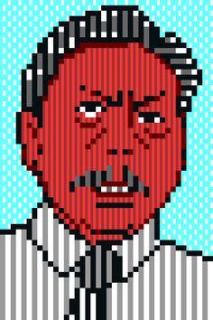 Chuwit Kamolvisit (Thai Politician) ชูวิทย์ กมลวิศิษฎ์ Pixel Art 8bit
