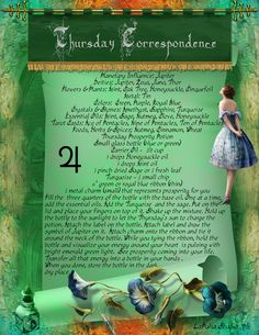 Thursday Correspondence magick information page - LaPulia Book of Shadows Wicca Witchcraft, Magick Spells, Pagan Calendar, Ace Of Pentacles, Witchcraft Supplies, Sabbats, Practical Magic, Book Of Shadows, Deities