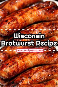 Bratwurst Recipes Skillet, How To Cook Bratwurst, Grilled Bratwurst, Brats Recipes, Bratwurst Sausage, Sausages, Sauerkraut Recipes, Cabbage Recipes, Mascarpone