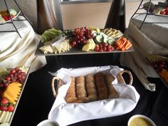 Assorted Cheeses & Crackers with our Crudite Station in Cocktail Hour #valleybrookweddings #valleybrookcountryclub