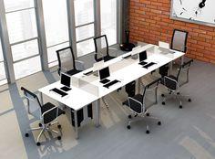 Organizar al equipo de trabajo con los modulares PRO es aprovecha el espacio al máximo.