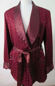 silk smoking jacket