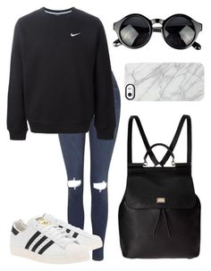 ×this is aesthetic style btw× by futuremrsclifford on Polyvore featuring polyvore, fashion, style, NIKE, Topshop, adidas Originals, Dolce&Gabbana and Uncommon