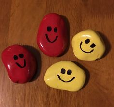 Painted Smiley Face Pet Rocks