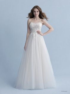 Disney Wedding Dresses 2020 - a beautiful collection of Disney Wedding Dresses and gowns from the Fairytale Wedding Collection. Browse these 16 Disney Wedding Dresses and Gowns inspired by the Disney Princesses Belle, Tiana, Snow White, Cinderella and Tiana. Disney Wedding Dresses, Princess Wedding Dresses, Bridal Dresses, Wedding Gowns, Disney Weddings, Wedding Cake, Lace Wedding, Aurora Dress, Popsugar