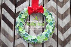Happy Holidays: Printable Holly Leaf Wreath