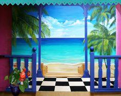 1000 images about trompe l 39 oeil et peinture murale on pinterest format - Peinture effet profondeur ...