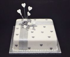 Silver wedding anniversary cake                                                                                                                                                      More