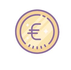 Euro Icon This page contains the vector icon, as well as variations of this icon in different visual styles, and related icons. All icons are in the flat vector style, however, differ by the line thickness, fill, and corner radius.