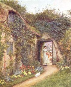 Helen Allingham (1848-1926), The Dairy, Farringford