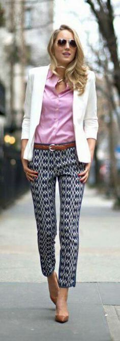 Love the pants, solid top, and blazer. Need shoes this color too!