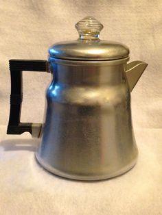 Vintage Wear Ever Aluminum 2210 Tricolator Drip Coffee Maker