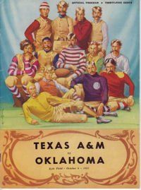 1951 Game Program between Texas A & M v OU - 10/06/51