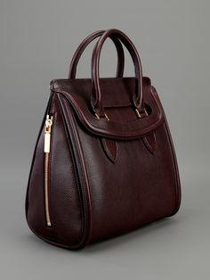 Alexander Mcqueen Heroine Bag in Purple (burgundy)   Lyst Shopper Bag, Me  Bag dc348e75b599